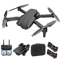 ✈[Transmission en temps réel à double caméra 4KHD]: Le drone RC est conçu avec une caméra frontale et une caméra à vue vers le bas. drone a 4K caméra HD et le support 2.4GHz vidéo mobile de haute qualité de capture à distance et des photographies aér...