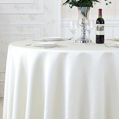 William 337 Einfarbige Satin-runde Tischdecke - Hotel-Bankett-Restaurant-Rundtischdecke, hochwertige Art-Atmosphäre, Starke Stoff-Beschaffenheit GY67 (Farbe : E, größe : Round -200cm)