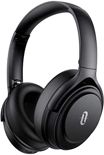 Noise Cancelling Kopfhörer TaoTronics Bluetooth 5.0 Kopfhörer Over Ear 40 Std. Laufzeit Mikrofon CVC 8.0 Typ-C Schnellladen für Smartphones Tablets