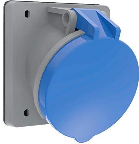 Bemis 45° Cee Einbausteckdose 3x63A. (2P+E) 220V. 50/60 Hz. 6h IP44 - Blau
