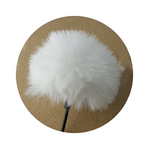 Mini Wind-Filter Pop-Filter für Lavalier Mikrofon - WEIß - Windshield Fell-Windschutz Fell-schutz weiss - MIND CARE ESSENTIALS
