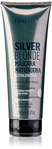 Amend Mascarilla Matizadora Silver Blonde 250 g Neutralizadora Tonos Anaranjados
