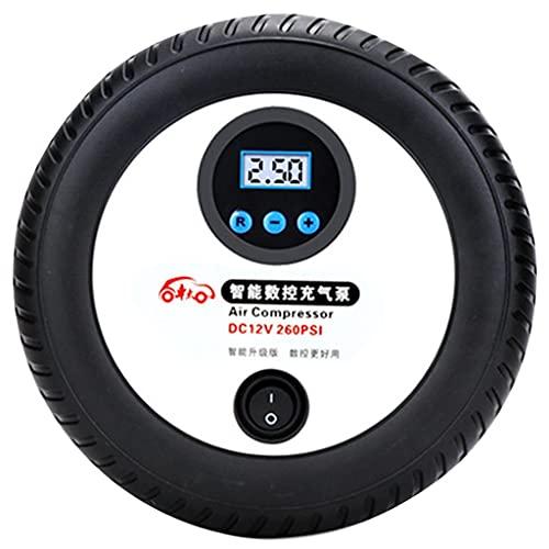 YCDJCS Inflador De Neumáticos Digital 12V Auto Bomba De Neumáticos De Coche Compresor De Aire Portátil con Flujo De Aire De 45L / Min para Bolas Anillos De Natación para compresores de Aire