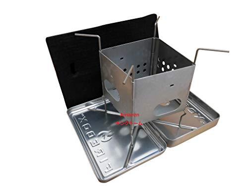 FIREBOX (ファイヤーボックス) チタン製 G2 ナノストーブ ボックスセット【日本正規品】 3インチ コンパクト 焚き火台 アウトドア キャンプ (チタン)