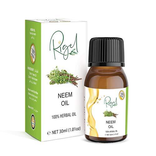 RIGEL 100% Herbal Neem Oil | Essential Neem Oil For Hair Treatment - 30ml
