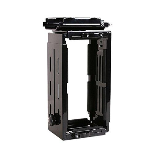 FLEXISPOT CPU-Halterung, Legierungsstahl, Schwarz, 23 cm