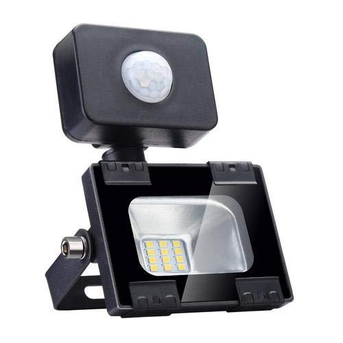 LED Strahler, Sararoom LED Scheinwerfer 10W lED Lampe Flutlicht mit Bewegungsmelder Superhell 2800K-3500K Warmweiß 900LM IP65 Wasserdicht für Garten Garage Korridor Sportplatz