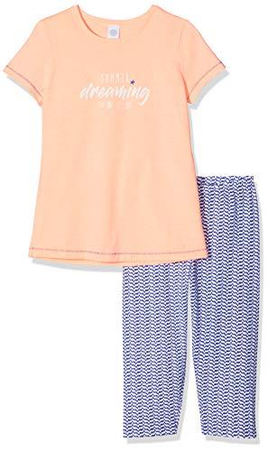 Sanetta Mädchen Pyjama Short Zweiteiliger Schlafanzug, Rosa (Neon Melon 38053), 152