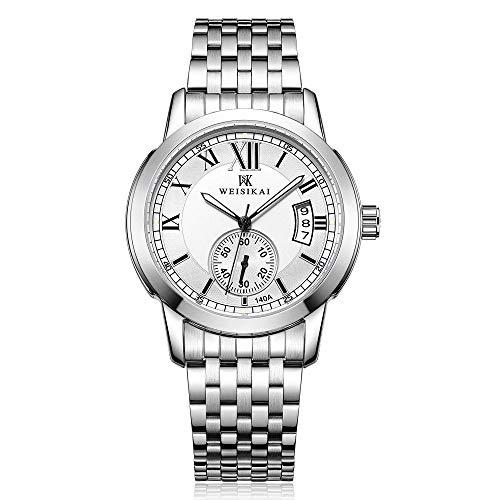 Relojes para Hombre Relojes de Pulsera esqueléticos mecánicos automáticos Relojes de Cuero Automático-C