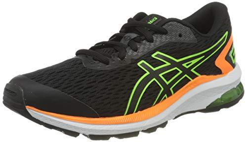 Asics GT-1000 9 GS, Zapatos para Correr, Black/Green Gecko, 38 EU