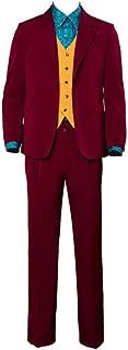 2019 Halloween Jared Leto Joker Clown Cosplay Costume Shirt Tie Jacket Pants Full Set