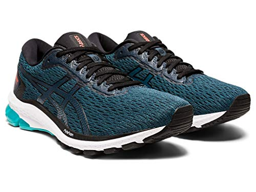 ASICS Men's GT-1000 9 Running Shoes, 7.5M, Magnetic Blue/Black