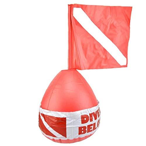 Tuimiyisou Dive Boje Oberfläche Marker Tauchen Signal Flag Aufblasbare Kugel PVC-sicherheitszeichen Diver Below Red