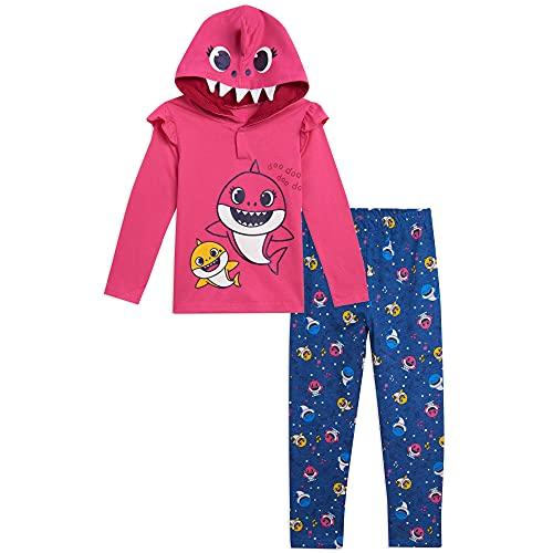 Pinkfong Conjunto de fantasia de tubarão e legging com babados, rosa, 0-3 meses