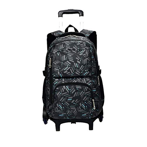 Boy Trolley Bag Canvas Children's School Backpack Girls Backpacks Luggage Book Bags Black Great Choice for You