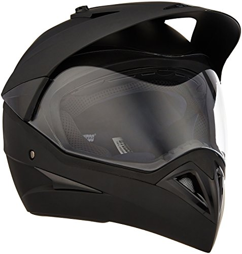 Studds Motocross Plain SUS_MVPFFH_MBLKL Full Face Helmet with Plain Visor (Matt Black,...