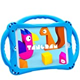 TopEsct Kids Case for iPad Mini 5 4 3 2 1,Silicone Childproof for All Kinds of iPad Mini, Built-in Handle Stand, Comes with a Strap. (Blue)