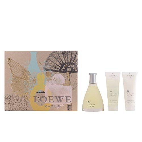 Loewe Agua de Loewe Geschenkset für Ihn (EdT Spray 100ml, Körperbalsam 75ml + Duschgel 75ml)