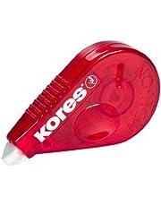 Kores - Corrector roll on (8,5 m x 4,2 mm, 10 unidades), color rojo