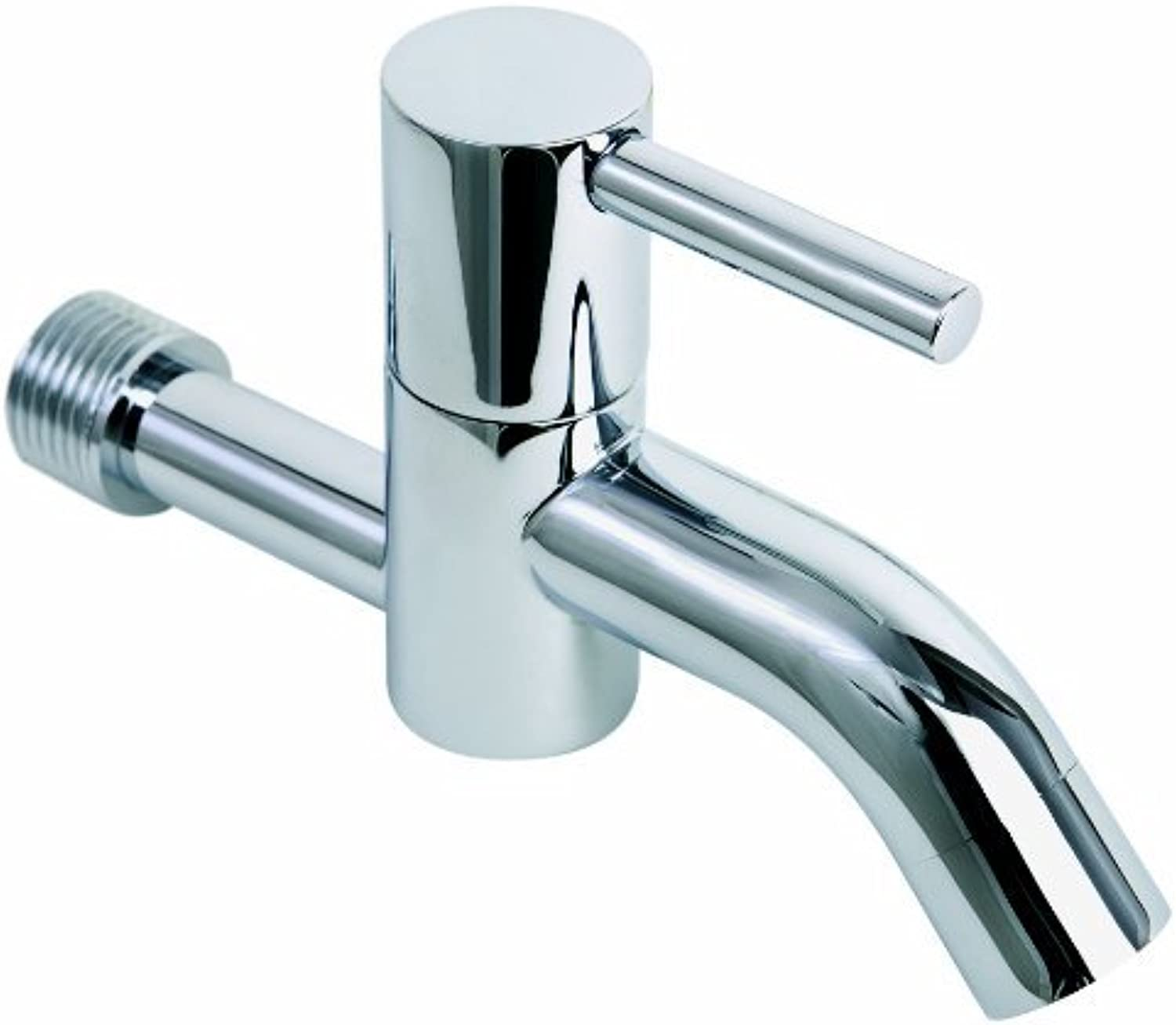 ADOB EW-Haustechnik Wall-Mounted Tap Fitting Round Solid Brass Chrome Plated, 40701