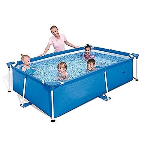 DXBKJ Frame Pool, 220 x 150 cm, schnell einstellbar, tragbarer Familienschwimmpool, geeignet für flaches Outdoor-Schwimmen mit der Familie