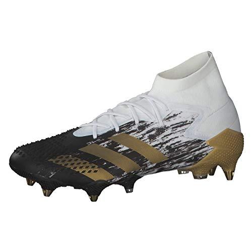 adidas Herren Predator MUTATOR 20.1 SG Fussballschuh, Ftwbla/Dormet/Negbás, 46 EU
