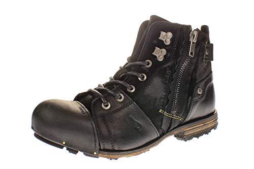 Yellow Cab Herren Industrial M Biker Boots, Schwarz (Black 000), 45 EU