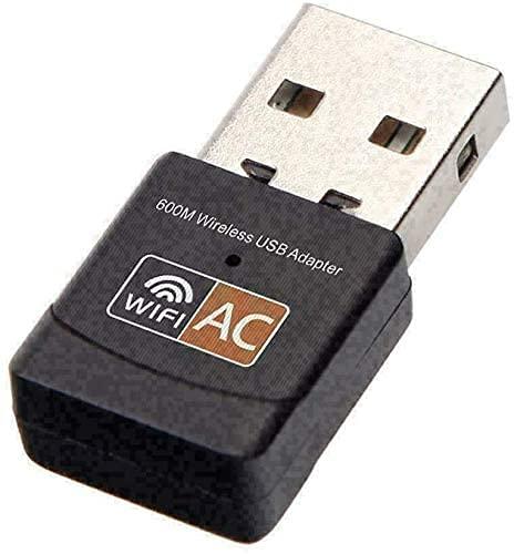PIPRE Adaptador USB WiFi 600M Mini WiFi Dongle 802.11ac, Dual Band 2,4/5 GHz Wireless Network Adapter para PC/Escritorio/Tablet/Laptop Compatible con Windows, Mac OS X