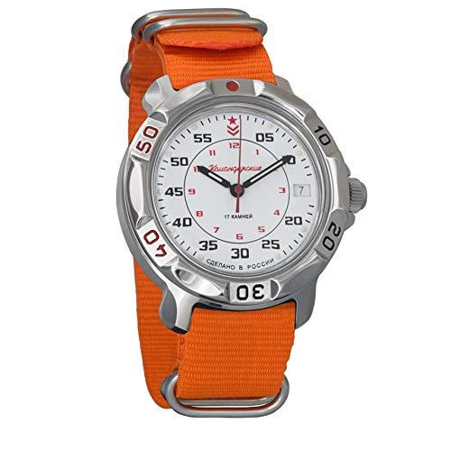 Vostok Komandirskie #811171 - Reloj de pulsera para hombre, mecánico, diseño militar