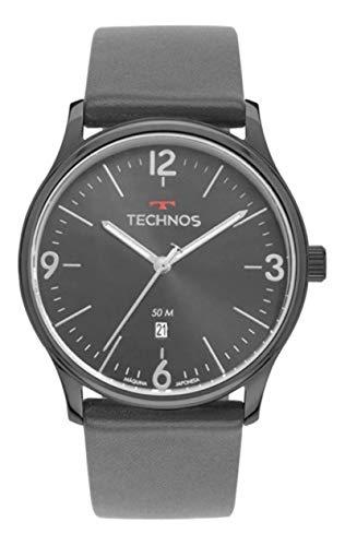 Relógio Technos Masculino Steel Grafite Couro 2115MUO/2C