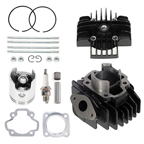 ZENITHIKE Cylinder Top End Kits fit for 1981-2018 for Y-amaha PW50 replacement kit for 4J2-11311-00-00 rebuild kit