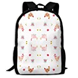 Sac à Dos d'école Ig 1 Swatch Fabric Backpack Travel Bag College School Daypack for...