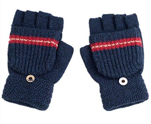 LANGING 1 Pair Kids Toddlers Gloves Winter Warm Mittens Thick Kids Baby Knitted Glove Cute Cartoon Thicken Mittens
