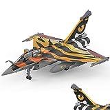 WZRY Modèle réduit d'avion, 1:72 Dassault Rafale Combattant, 8,2 Pouces × 5,7 Pouces, modèle Militaire de Chasseur en métal, modèle d'avion Militaire, pour commémorer la Collection décoration