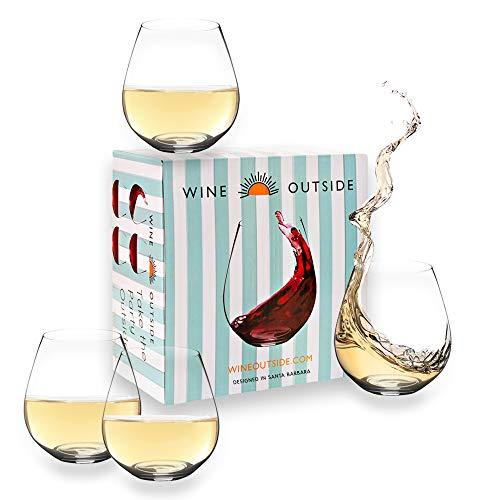 Wine Outside Unbreakable Wine Glasses