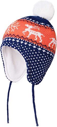 heekpek Sombrero Caliente de Punto Invierno Pompon Beanie Sombreros de Bebé Sombrero de Niñas Niños Orejera Beanie Gorro de Punto Algodón Gorros Sombreros