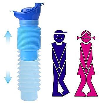 Urinoir portable d'urgence d'urgence Urinoirs rétractables hommes et femelles Enfant pour en Plein Air Sorties Balades Camping Voyage.