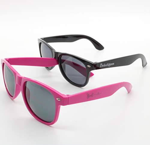 Juego de gafas de sol para novia y novio, color rosa y negro, gafas de boda, regalo de foto, accesorio para novios