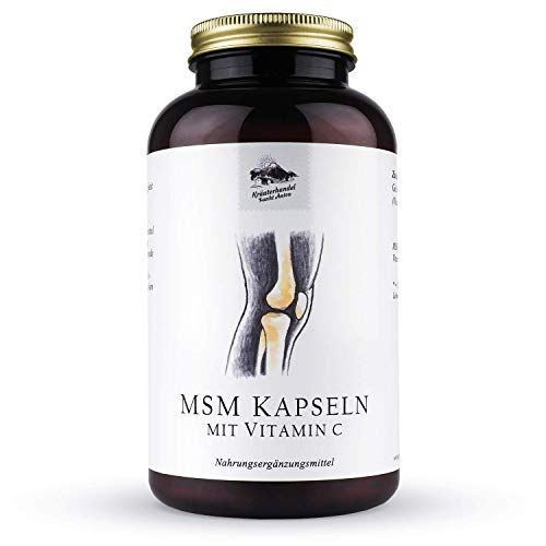 KRÄUTERHANDEL SANKT ANTON® - MSM Kapseln - Hochdosiert - Vitamin C - Deutsche Premium Qualität (300 Kapseln)