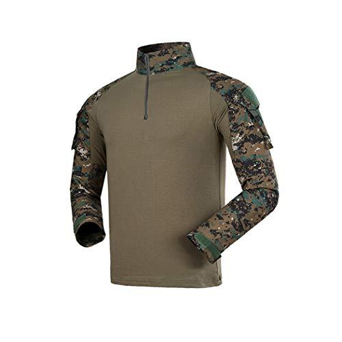 Camuflaje rápido de Uniforme Militar de los Hombres del Desierto, Camisa de Combate táctico, Camisa de Juego de Airsoft con Almohadillas de Codo JD S