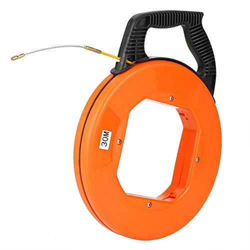 Yosoo Health Gear Fiberglas-Fischbandrolle, Fischband mit flexiblem Metallvorfach 4 mm 30 m zur Verwendung in bis zu einem Zoll Rohr