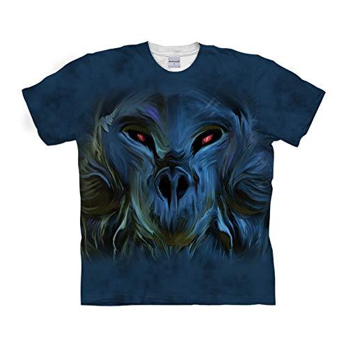 DHAJIFL Singe drôle t-Shirt 3D t-Shirt Hommes t-Shirt t-Shirt à Manches Courtes Streetwear Tops Anime T-Shirts Unisexe, Plus la Taille Drop Ship