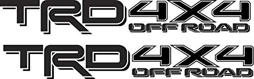 Toyota TRD 4x4 Off Road Compatible with Toyota Tacoma Tundra Black Sticker Decal