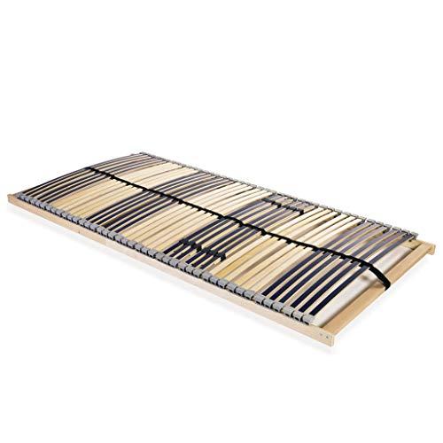 vidaXL Lattenrost mit 42 Latten 7 Zonen 100x200 cm Lattenrahmen Bettrost