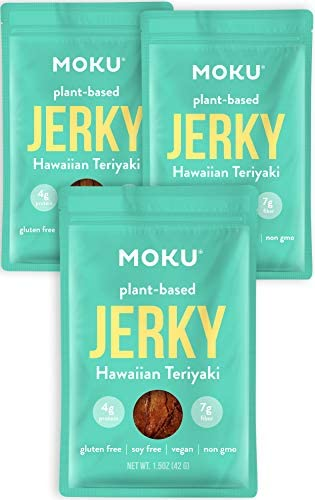 Moku Plant Based Mushroom Jerky 3 Pack Vegan Jerky Gluten Free Soy Free Non GMO Vegan Snacks product image