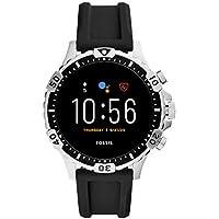 Fossil Smartwatch Pantalla táctil para Hombre de Connected con Correa en Silicona FTW4041