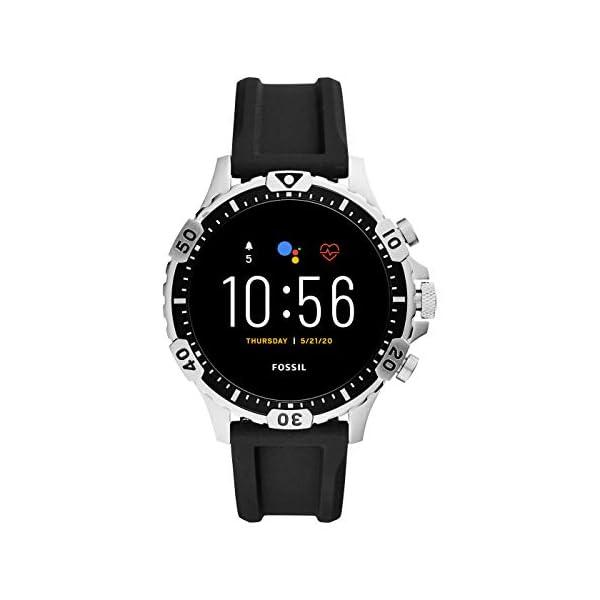 Fossil Connected Smartwatch Gen 5 para Hombre con pantalla táctil , altavoz, frecuencia cardíaca, GPS, NFC y… 1