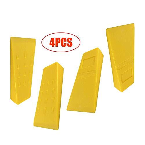 3Pcs Tree Felling 5Inch Wedges für Protokollierung Fallendes Schneiden Spalten