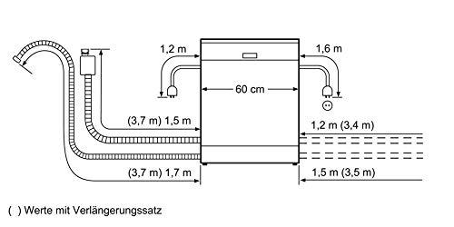 Bosch Elettrodomestici SMU46NS03E Lavastoviglie da Libero Posizionamento, 60 cm, 9.5 L, 44 Decibel, 14 coperti, A++, Acciaio inox