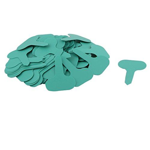 sourcing map Parterre jardin Semences plantes plastique résistant eau marqueur Étiquette vert 100pcs